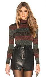 A L C  Mariel Sweater in Black  Roja  amp  Emerald from Revolve com at Revolve