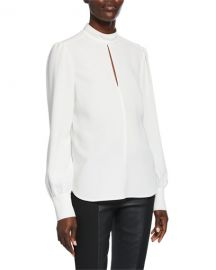 A L C  Marina Mock-Neck Top at Neiman Marcus