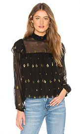 A L C  Meloni Top in Black  amp  Gold from Revolve com at Revolve