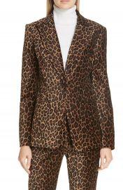 A L C  Mercer Marina Leopard Print Jacket at Nordstrom