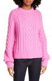 A L C  Mick Cable Knit Alpaca Blend Sweater   Nordstrom at Nordstrom