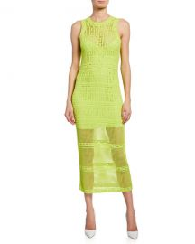A L C  Monaghan Sleeveless Crochet Dress at Neiman Marcus