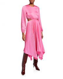 A L C  Naples Pleated Cutout Handkerchief Dress at Neiman Marcus