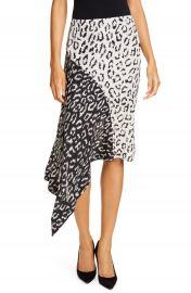 A L C  Natalie Leopard Print Asymmetrical Colorblock Skirt   Nordstrom at Nordstrom