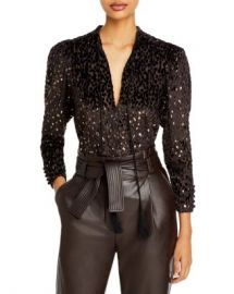 A L C  Ophelia Embellished Tassel Tie Top Women - Bloomingdale s at Bloomingdales