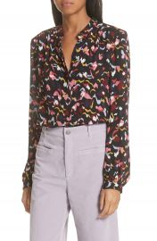 A L C  Owens Floral Silk Top at Nordstrom