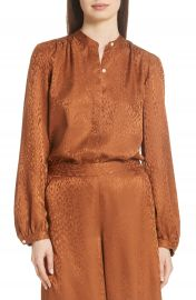 A L C  Owens Silk Jacquard Top at Nordstrom