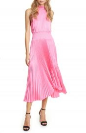 A L C  Renzo Pleated Sleeveless Midi Dress   Nordstrom at Nordstrom