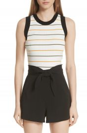 A L C  Rita Stripe Rib Knit Top   Nordstrom at Nordstrom