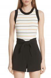 A L C  Rita Stripe Rib Knit Top at Nordstrom