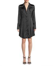 A L C  Rora Silk Button-Front Shirtdress at Neiman Marcus