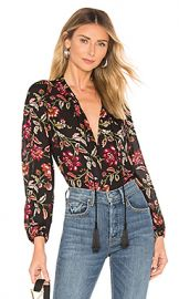 A L C  Royan Vreeland Floral Top in Black  amp  Terracotta from Revolve com at Revolve