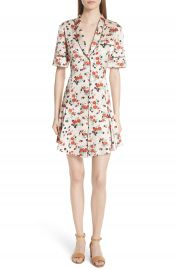 A L C  Ruthie Floral Print Stretch Silk Dress at Nordstrom