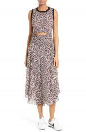 A L C  Sandra Cutout Silk Midi Dress at Nordstrom