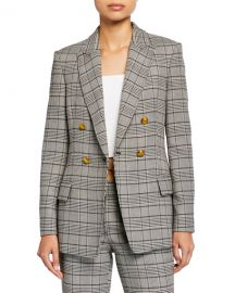 A L C  Sedgwick II Double-Breasted Plaid Jacket at Neiman Marcus