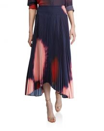 A L C  Sonali Pleated Tie-Dye Asymmetric Skirt at Neiman Marcus