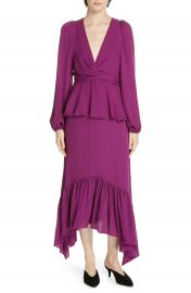 A L C  Stanwyck Ruffle Silk Dress   Nordstrom at Nordstrom
