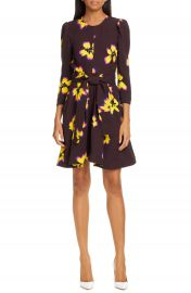 A L C  Stella Floral Print Silk Dress   Nordstrom at Nordstrom