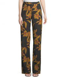A L C  Vaughn Floral-Print Straight-Leg Pants at Neiman Marcus