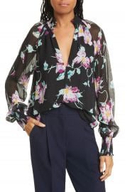 A L C  Venetia Floral Silk Blouse   Nordstrom at Nordstrom