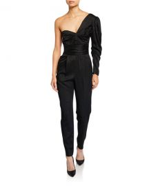 A L C  Walden Asymmetrical One-Shoulder Jumpsuit at Neiman Marcus