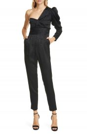 A L C  Walden One Shoulder Moir   Jumpsuit   Nordstrom at Nordstrom
