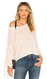 A L C  Zora Sweater in Petal  amp  White Melange from Revolve com at Revolve