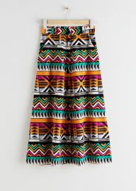 A-Line Graphic Cotton Skirt at & Other Stories