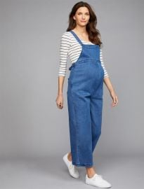 A Pea in the Pod Luxe Essentials Wide Leg Maternity Overall at Destination Maternity