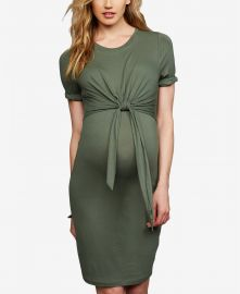 A Pea in the Pod Maternity Tie-Front Dress at Macys