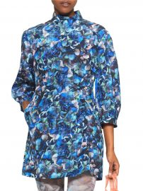 AAliah High-Neck Printed Ruched Dress at Saks Fifth Avenue