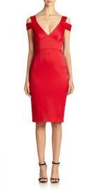 ABS Cold shoulder dress at Saks Fifth Avenue