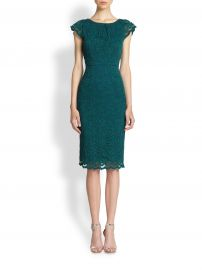 ABS Lace Cap Sleeve Dress at Saks Fifth Avenue