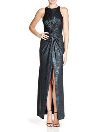 ABS by Allen Schwartz Sleeveless Foil Gown at Bloomingdales