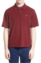 ACNE Studios Newark Face Patch Polo at Nordstrom