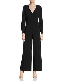 ADRIANNA PAPELL DRAPED MATTE JERSEY JUMPSUIT at Bloomingdales