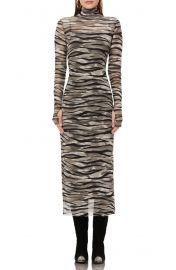 AFRM mesh long sleeve dress at Nordstrom