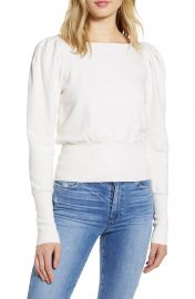 AG Walker Puff Shoulder Sweatshirt   Nordstrom at Nordstrom