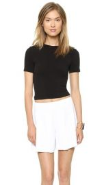 AIR by alice and olivia Short Sleeve Crew Neck Crop Top at Shopbop
