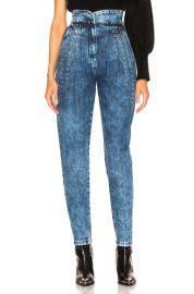 ALBERTA FERRETTI Studded Tapered Jeans in Blue   FWRD at Forward