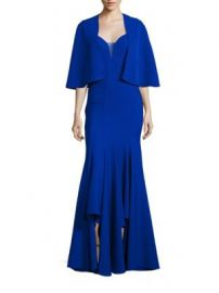 ALBERTO MAKALI - Two-Piece Sleeveless Sweetheart Neck Gown   Cape Set at Saks Fifth Avenue