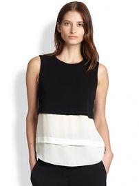 ALC - Palmer Knit and Silk Layered Top at Saks Fifth Avenue