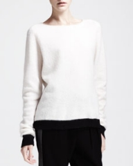 ALC Alice Two-Tone Boat-Neck Sweater at Neiman Marcus
