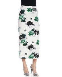 ALC Bell Floral-Print Silk Midi Skirt at Neiman Marcus