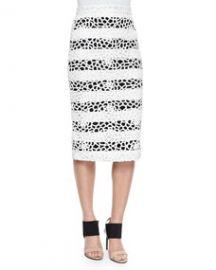 ALC Della Striped Netted Pencil Skirt at Neiman Marcus