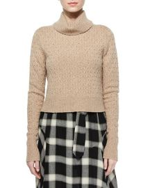 ALC Jeannie Long-Sleeve Turtleneck Sweater in Camel at Neiman Marcus