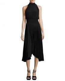 ALC Renzo Pleated Jersey Midi Dress at Neiman Marcus