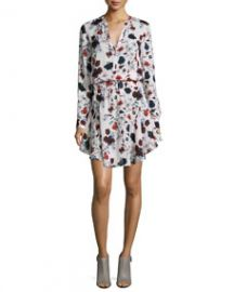 ALC The Way Floral-Print Dress Pink English Floral at Neiman Marcus