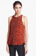ALC and39Aniseand39 Leopard Print Silk Top at Nordstrom