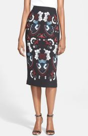 ALC and39Haleyand39 Print Silk Pencil Skirt at Nordstrom